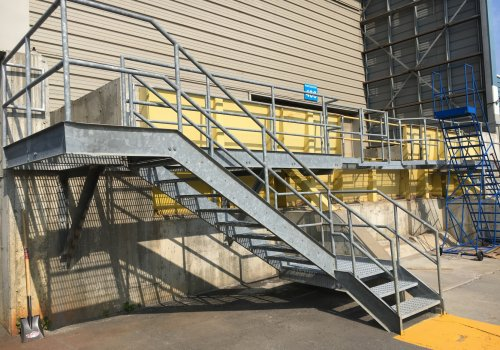 Waste treatment plant – staircase – access platform